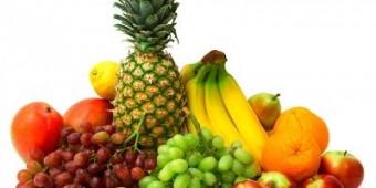 139305 gyümölcsök ananász, banán, kivi, szőlő, alma, narancs